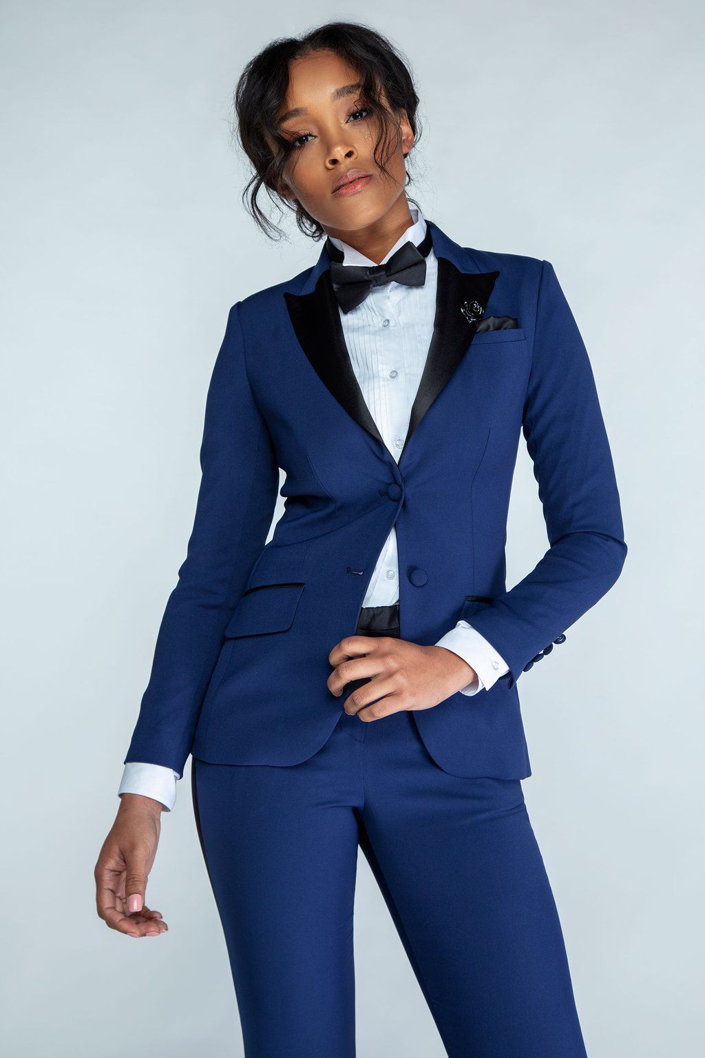 a2b572c1a78 Command inner strength and feel empowered at any occasion with the Black  Peak Lapel Women s Tuxedo Jacket from Little Black Tux. This feminine black  jacket ...