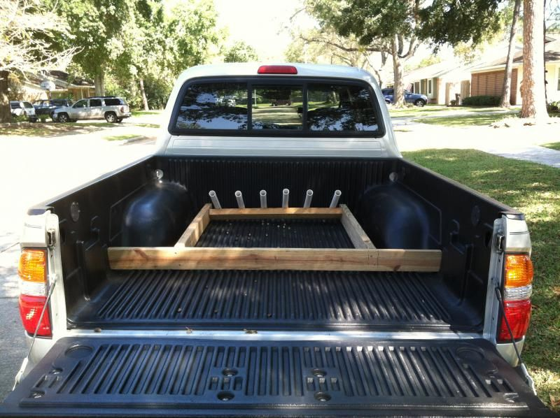 Diy truck bed rod holder tacoma 2coolfishing for Truck bed fishing rod holder