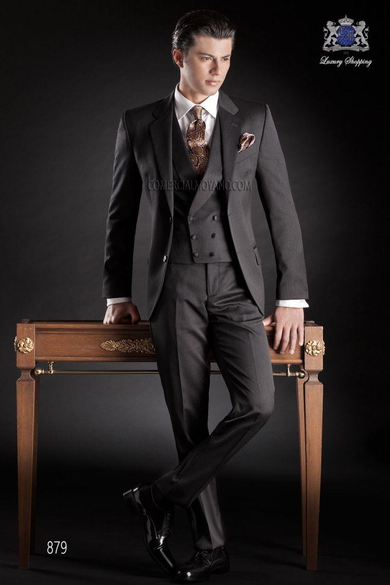 Click To Buy 2017 Latest Coat Pant Design Italian Black Wedding Suits