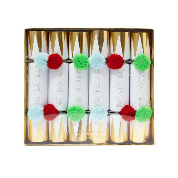 Meri Meri Pom Pom Christmas Crackers (£28) ❤ liked on Polyvore - christmas home decor