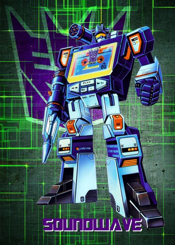"Transformers G1 Decepticons Soundwave #Displate artwork by artist ""Wiebes"". Part of a set featuring… 