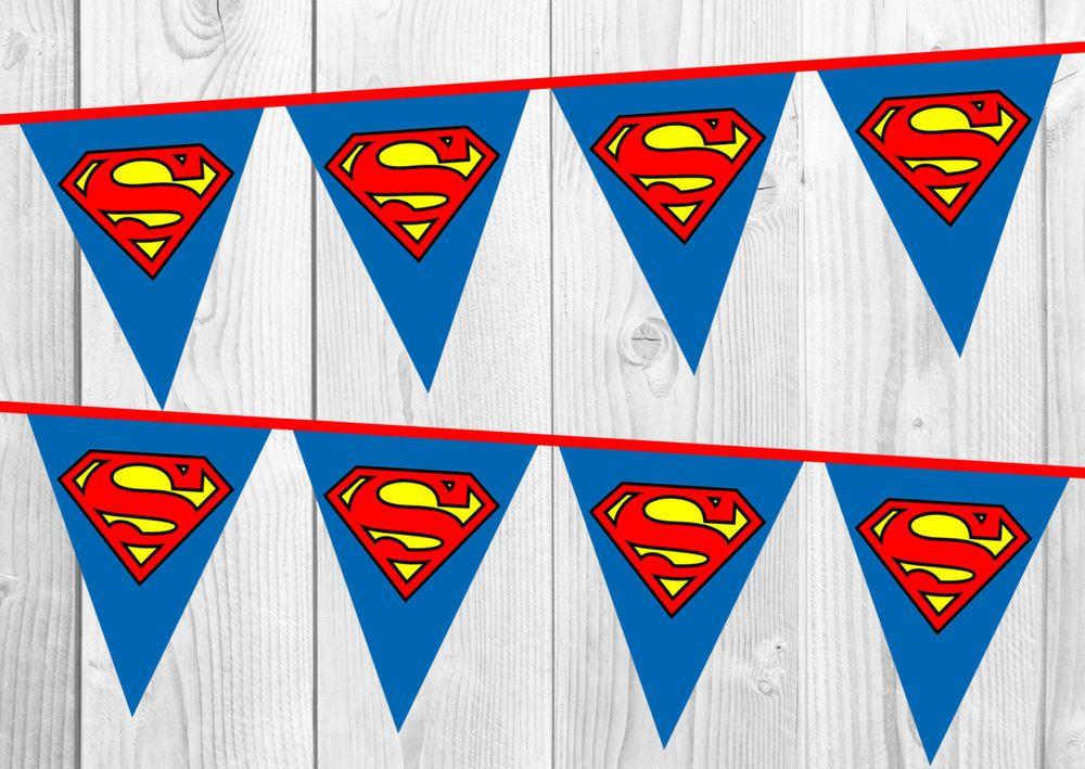 superman birthday banner bunting