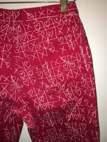 Moschino-Rojo-Tic-Tac-Toe-Jeans