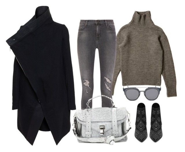 """""""Untitled #1312"""" by styledincontrast ❤ liked on Polyvore featuring J Brand, Rick Owens, Proenza Schouler, Yves Saint Laurent, GANT, women's clothing, women's fashion, women, female and woman"""