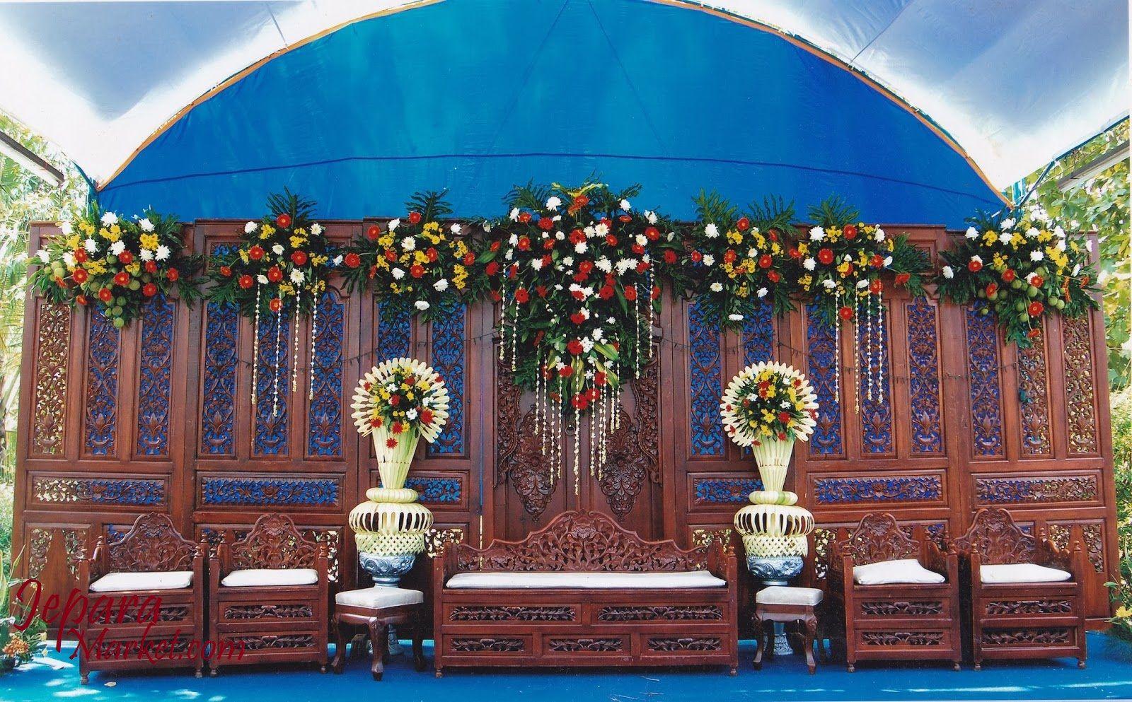 Dekorasi Pernikahan Model Gebyok Ini Sangat Kerenunik Dan