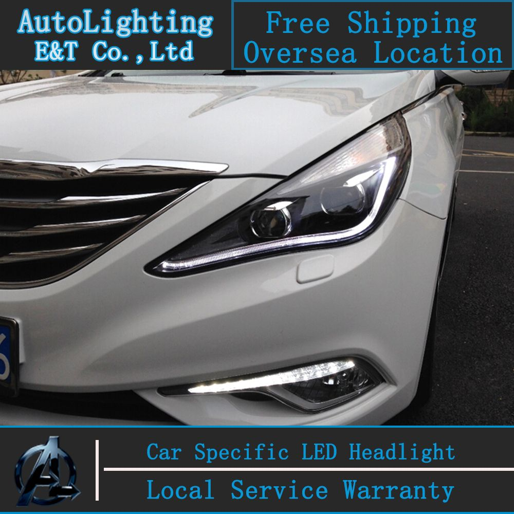 Car Styling For Hyundai Sonata Led Headlights Sonata8 Head Lamps 2017 Angel Eye Drl H7 Hid Bi Xenon Lens Low Beam