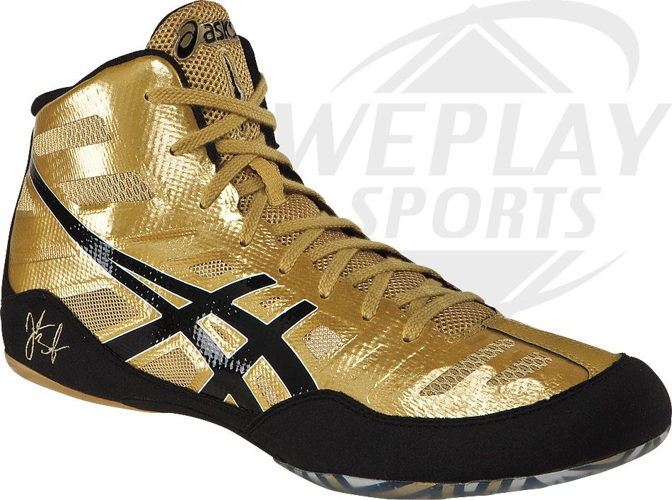 f38dd97970b ASICS® JB Elite Wrestling Shoes gold shoes that will also be an option  apart from the black ones