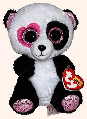 39b8b6eb7d2 TY Beanie Boo Mandy Valentine Panda Buddy