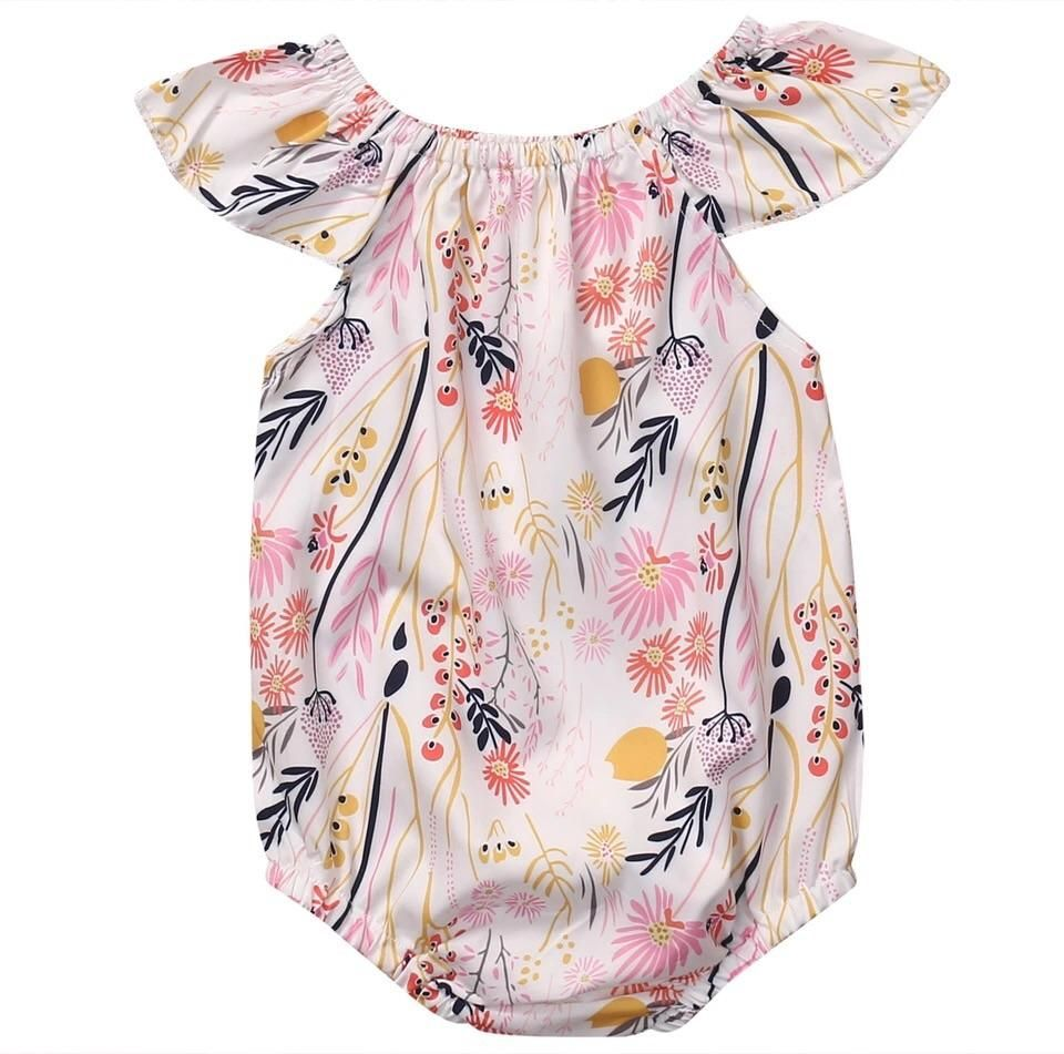 508b2011c8b22 Summer Floral Baby Romper | Products | Cute newborn baby girl, Baby ...