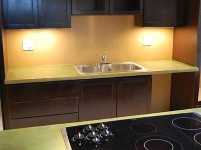Awesome Lime Green Concrete Countertops In Denver CO. We Have Many, Many  Unique And