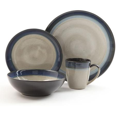 Gibson Home Terra Bella 16-Piece Dinnerware Set - Walmart.com - Need 2  sc 1 st  Pinterest & Gibson Home Terra Bella 16-Piece Dinnerware Set - Walmart.com - Need ...