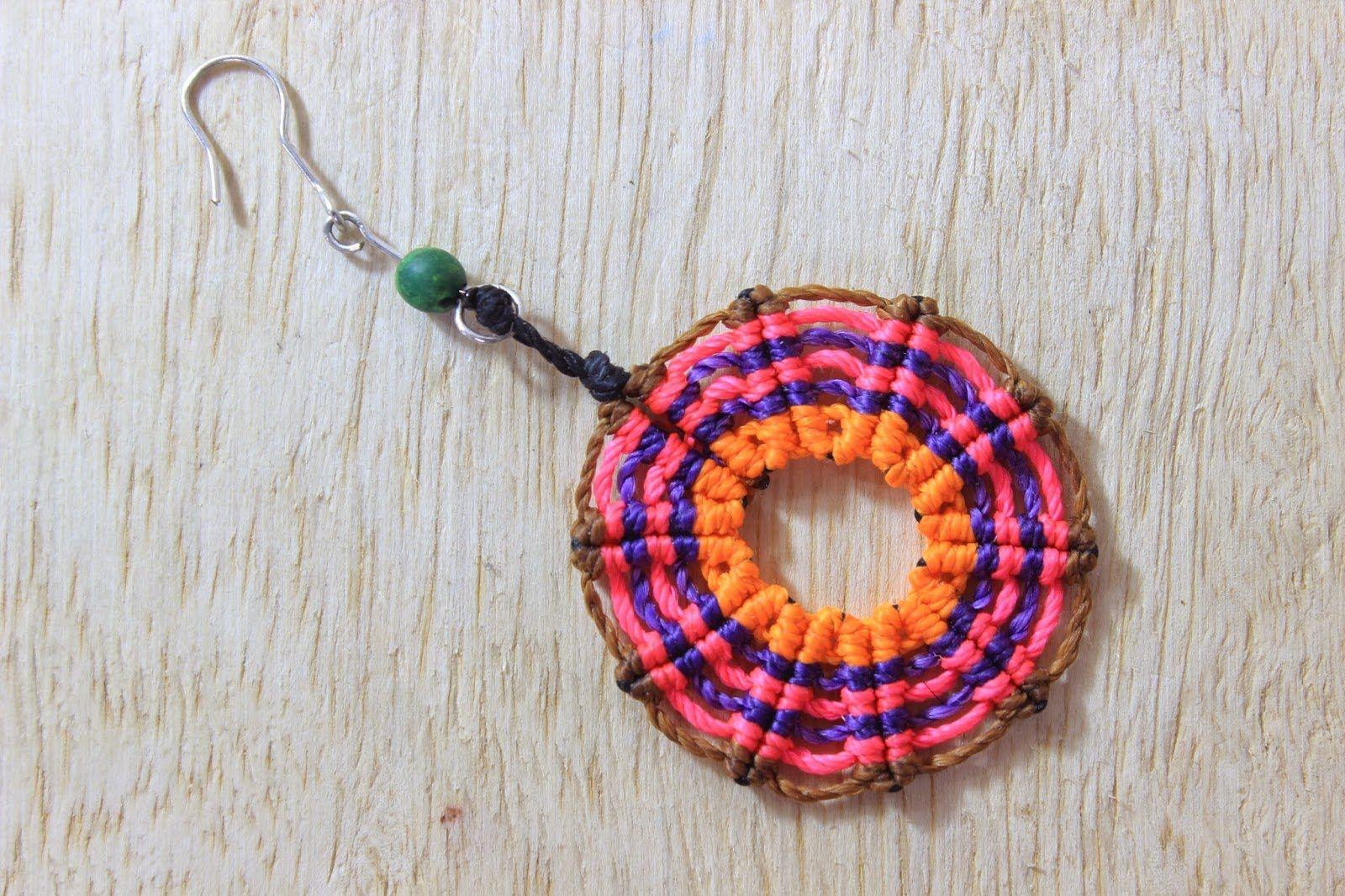 551e6000b644 como hacer aretes macrame circulares cavandoli Es.PandaHall.com ...