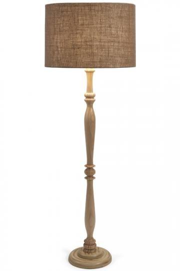 Harbin Wood Floor Lamp - Brown Floor Lamp - Traditional Floor Lamp ...