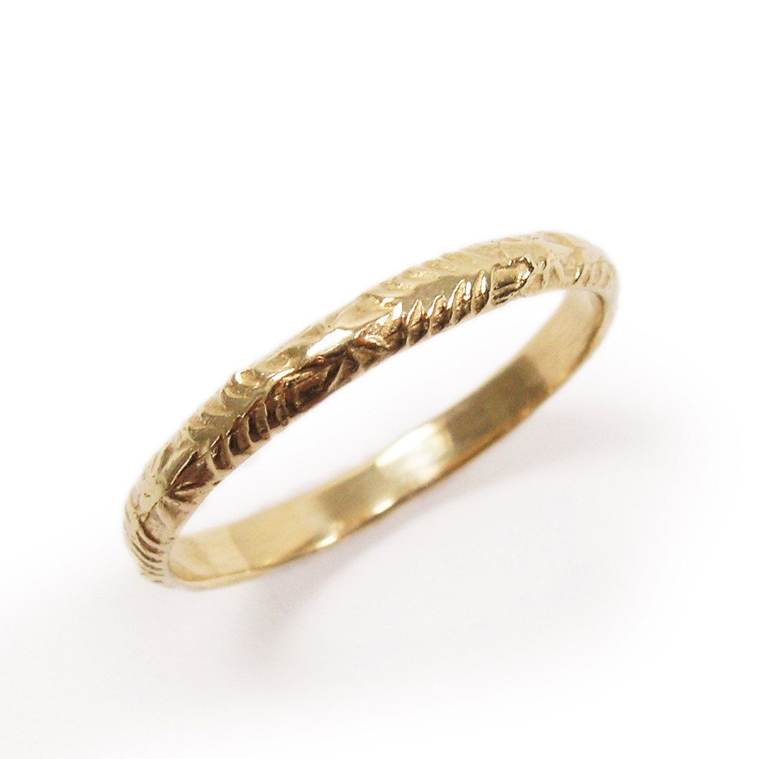 Modern Morrocan Yellow Gold Tribal Ethnic Design Wedding Ring Or Jewelry Gift For Her