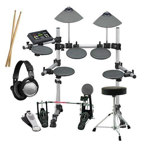 Yamaha DTX500K Drum Set ESSENTIALS BUNDLE w/ Double Pedal