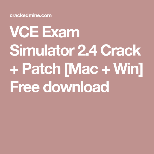 free download vce exam simulator for mac