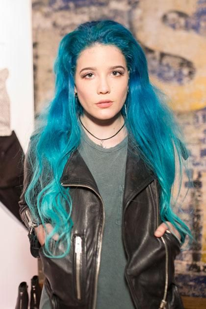10 Celebs Who Have Tried Candy Colored Hair Halsey Hair Pastel