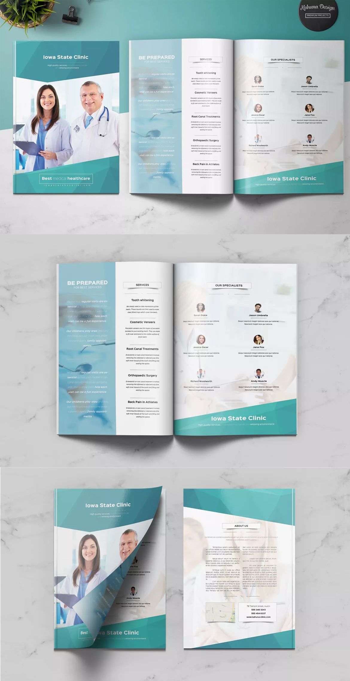 Medical Multipurpose Brochure By Kahuna Design On Envato Elements Free Brochure Template Brochure Design Template Brochure Template