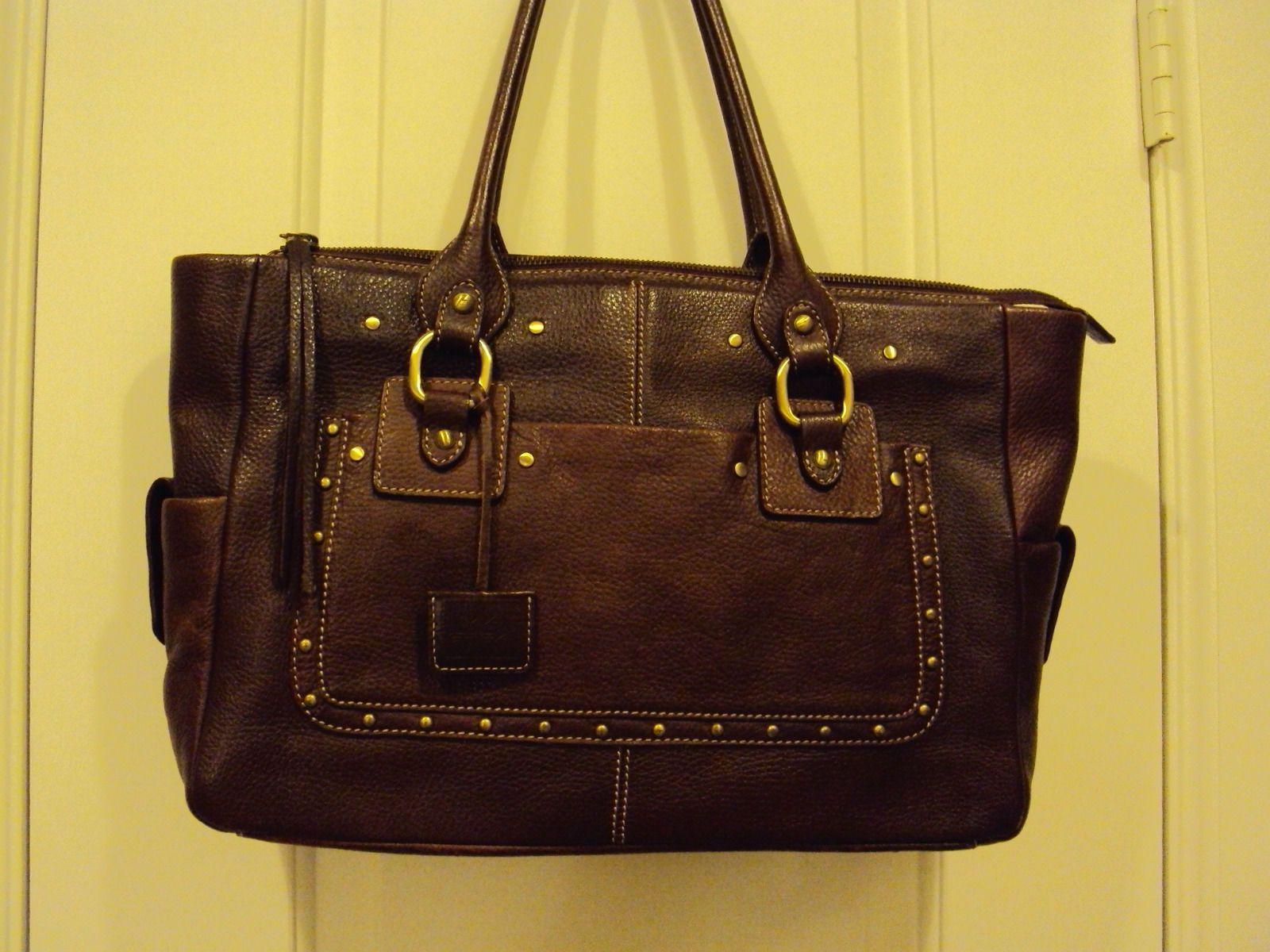Reduced 20 Via Spiga Brown Leather Handbag Gorgeous Ebay