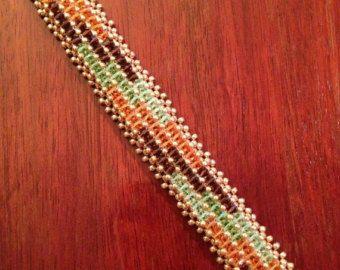 TUTORIAL ONLY  Teardrop Earrings  Weaving with Herringbone