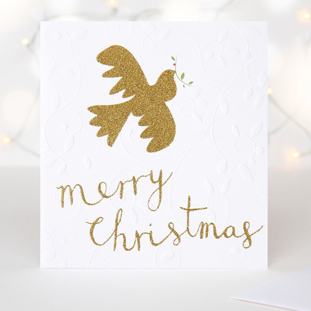 This elegant textured and gold glitter embossed luxury Christmas ...
