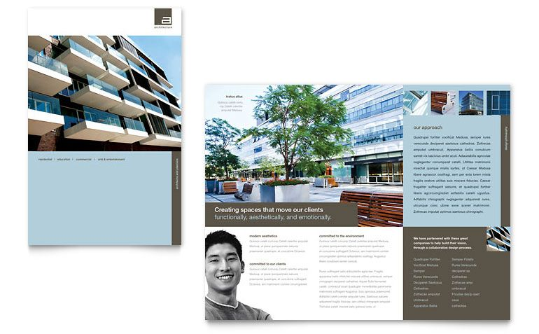 Architect - Brochure Template Design Design \/\/ Layout - download brochure templates for microsoft word