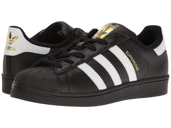 adidas Superstar   White tennis shoes, Black lace up shoes