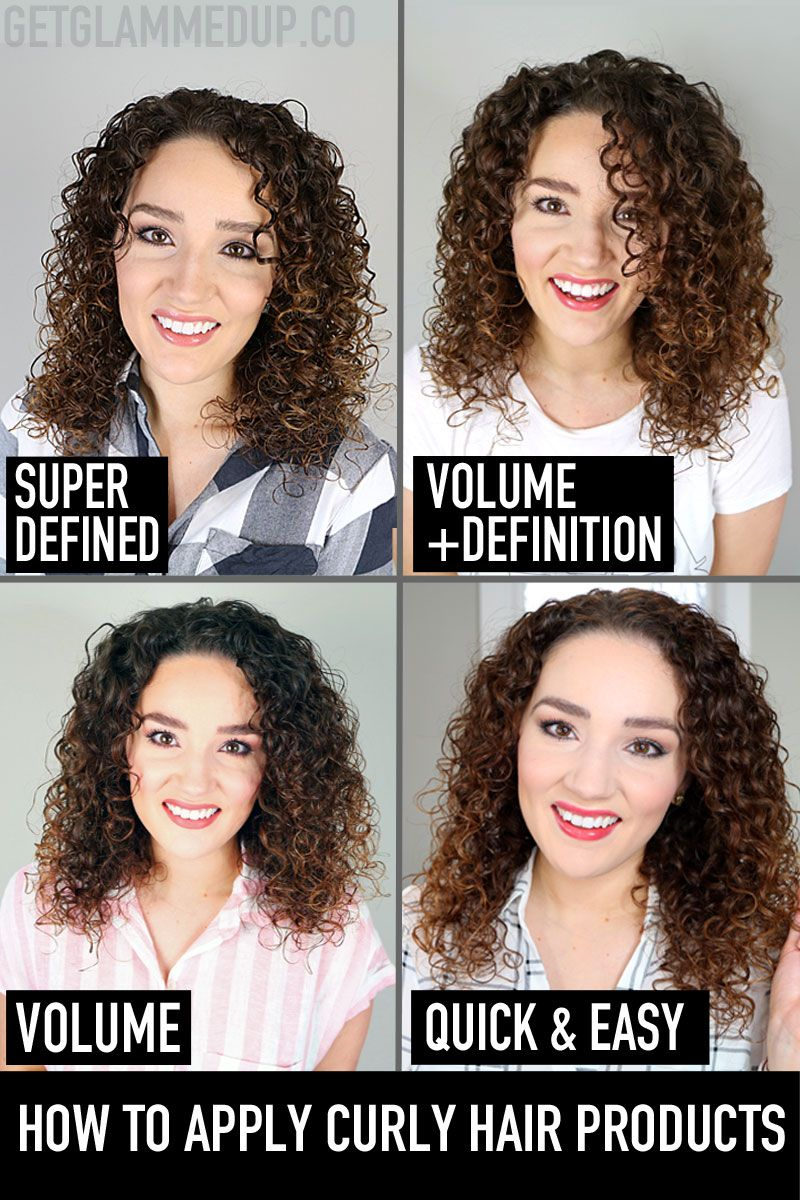 How to Apply Curly Hair Products, different application