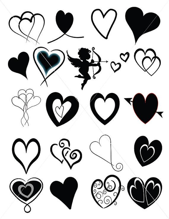 Digital Download Vector Hearts Valentine Hearts Scalabe Vector