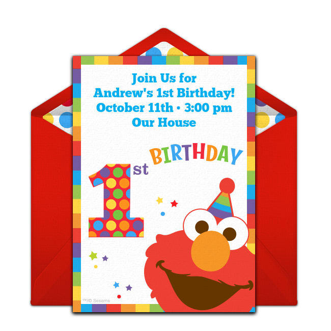 The Perfect Free Online Invitation For An Elmo Birthday Party Send Easily From Your Phone