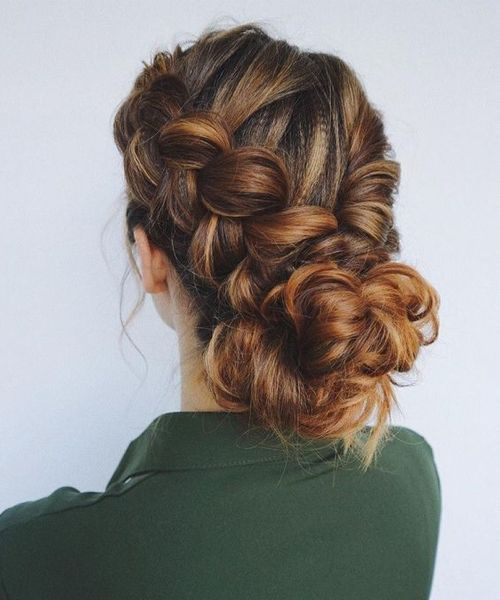 Best Braided Updo Hairstyles For Women With Long Thick Hair Thick Hair Styles Long Hair Styles Hair Styles