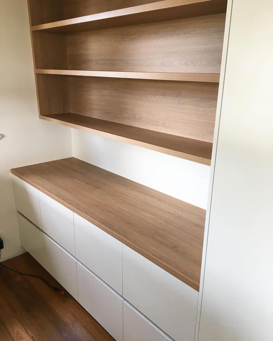 Home Office Created From Polytec Tasmanian Oak Woodmatt