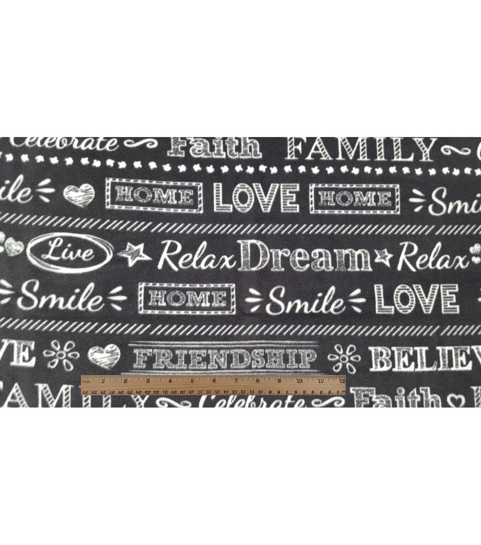 Anti pill fleece fabricchalkboard words chalkboards fabrics and