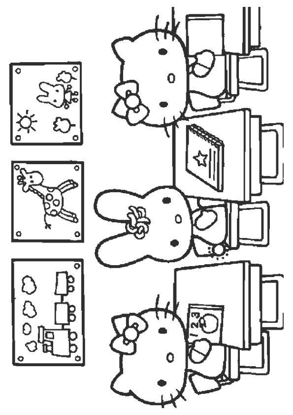 Print Coloring Image Momjunction Hello Kitty Coloring Hello Kitty Colouring Pages Hello Kitty