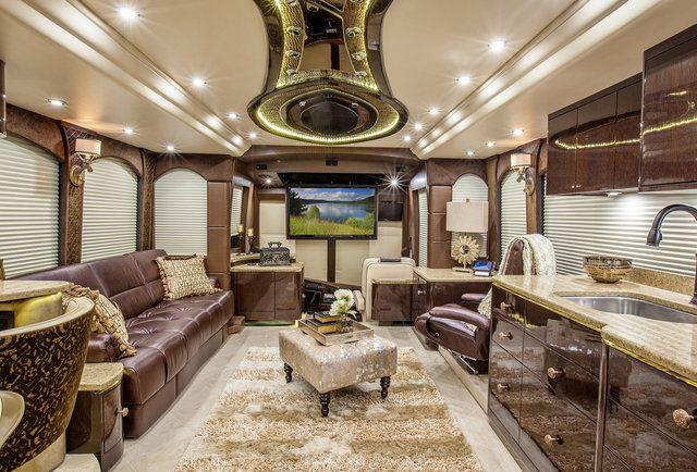Millennium Prevost Interior Home On The Road Luxury
