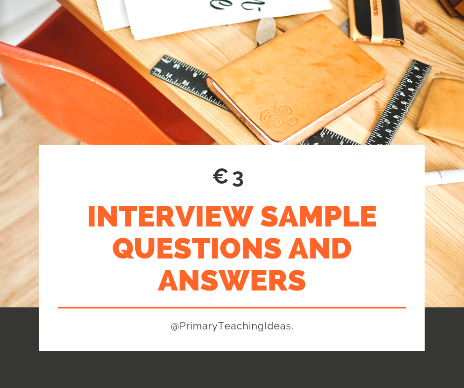 Interview Questions and Answers for Primary School | This ...