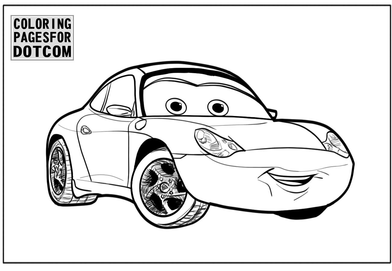 Cars Coloring Pages Girl Blue