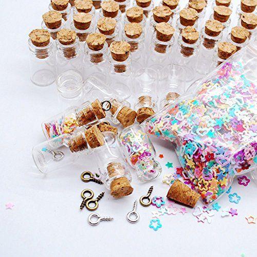 531586469cc5 Sprite Science™ 50pcs Transparent 0.5ml Message Bottles Spice ...