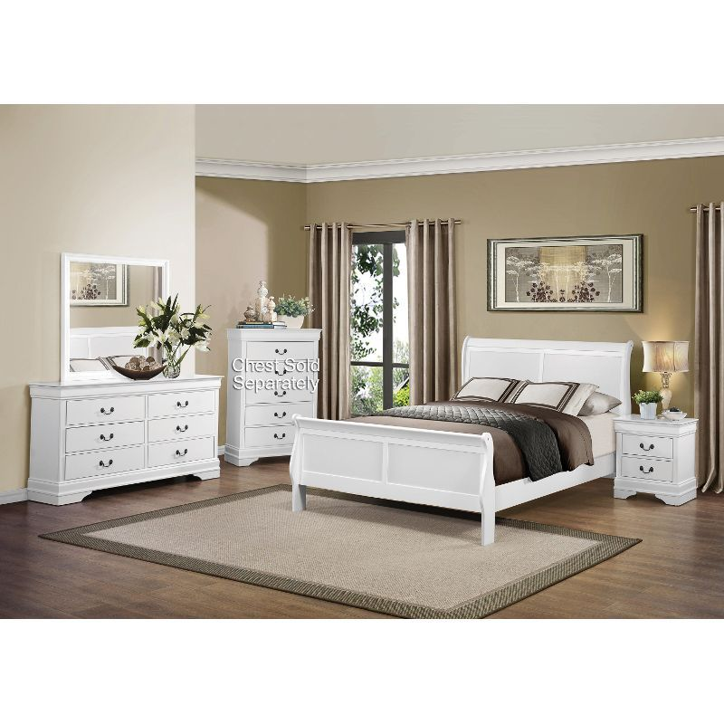 Mayville White 6 Piece Full Bedroom Set   RC Willey Home Furnishings