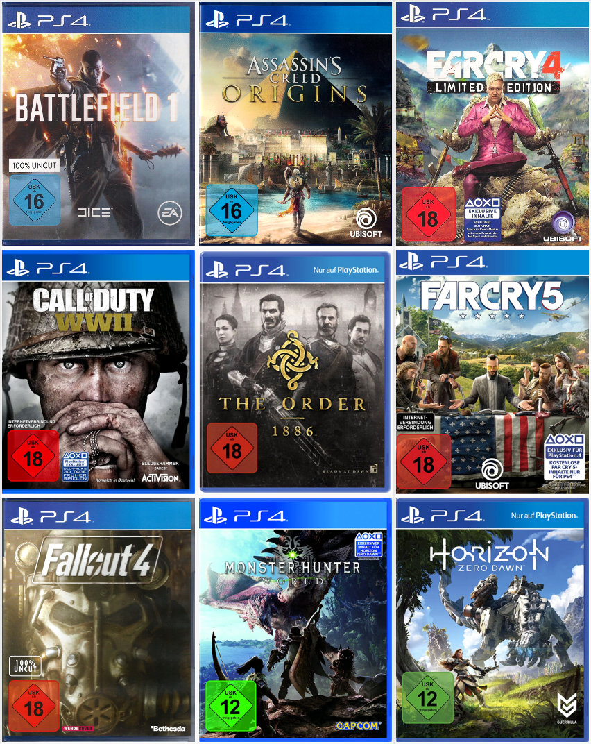 Sony Playstation 4 Spiele Ps4 Games Top Titel Bundle Spiel Nach Wahl Ps4 Spiele Playstation Spiele