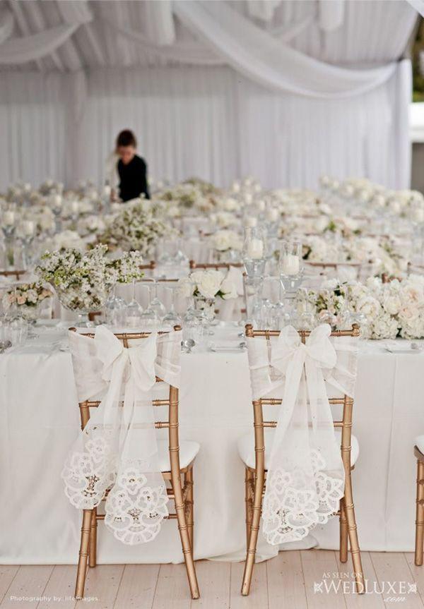 decoration mariage dentelle housse chaise mariage déco chaise mariage ...