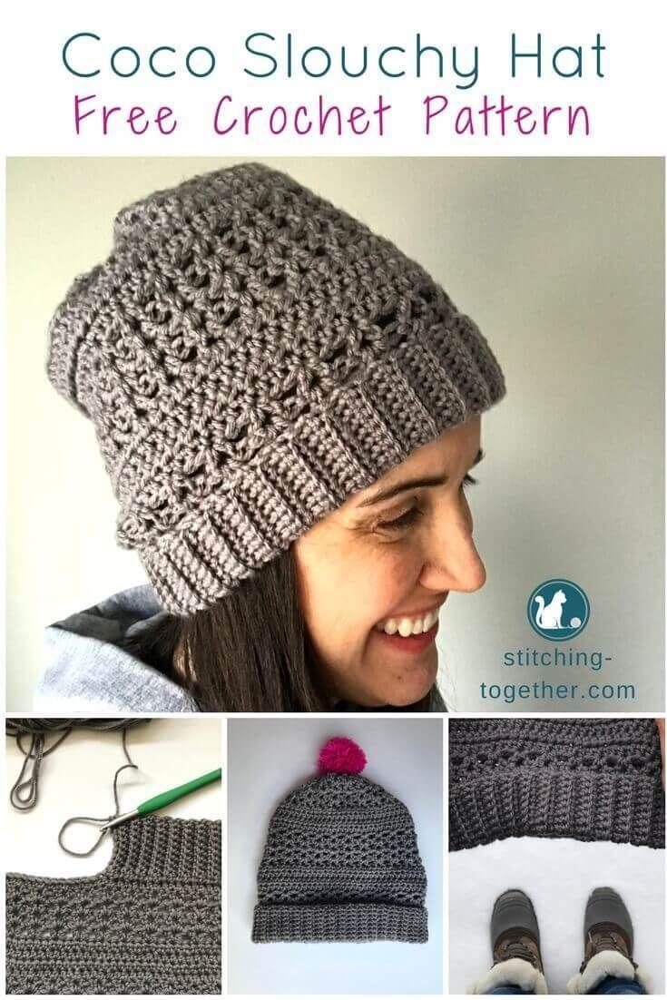 Coco Crochet Slouchy Hat | Labores y Gorros