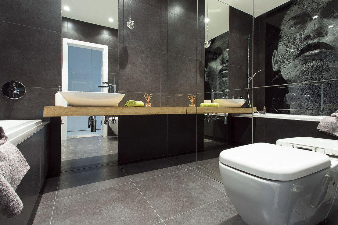 Minimalistycznie Ale Intrygujaco Mieszkanie W Warszawie Homify Bathroom Spa Bathroom Vanity Home Decor
