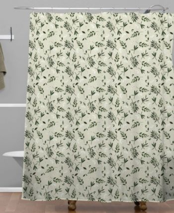Deny Designs Iveta Abolina Nordic Olive Green Shower Curtain