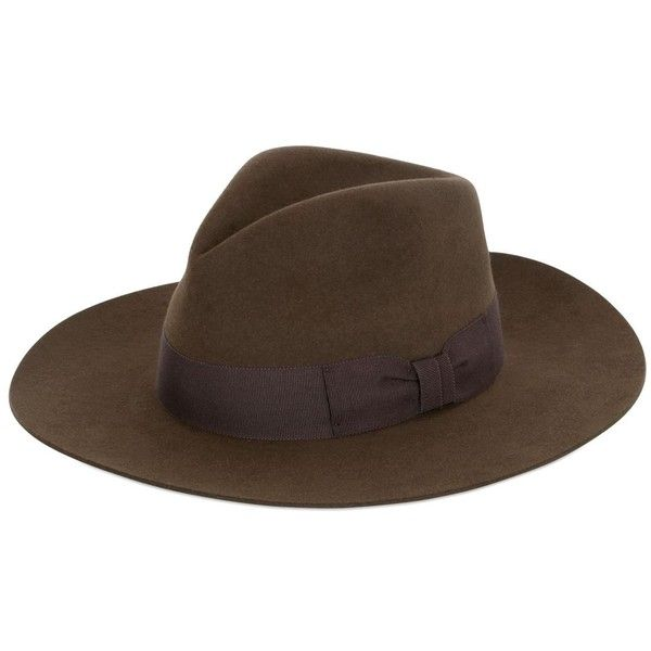 0d1a1ca350911 Saint Laurent Women Lapin Fur Felt Wide Brimmed Hat (85000 ALL) ❤ liked on
