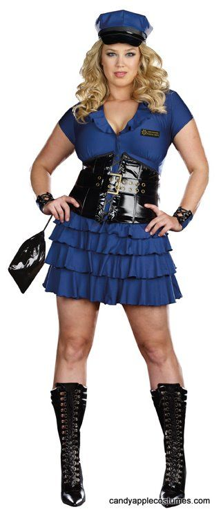 Plus Size Dreamgirl Late Night Patrol Sexy Cop Costume -7533