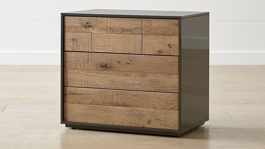 Cresent Fine Furniture Waverly Two Drawer Modern Rustic Nighstand