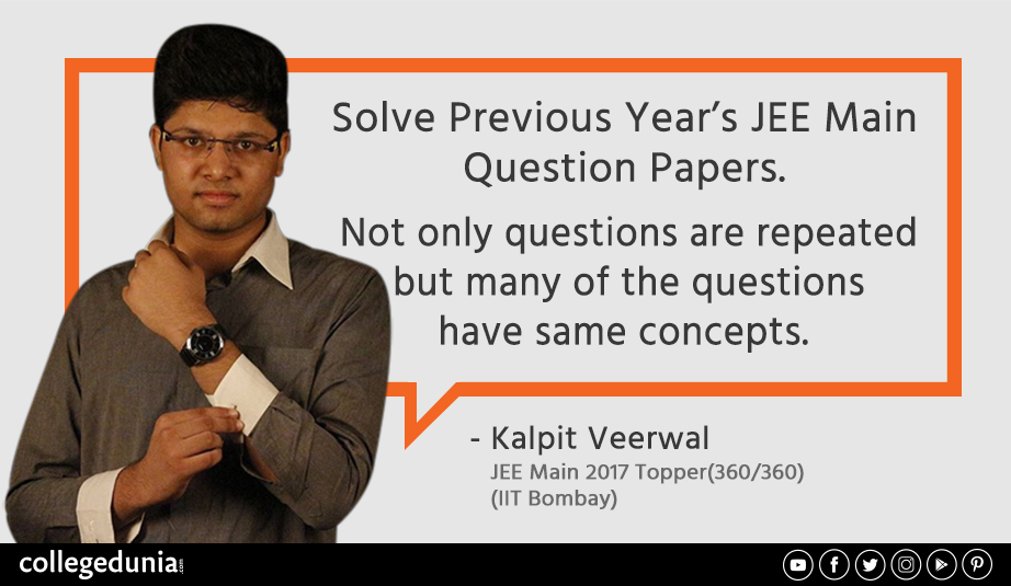 Jeemain 2018 Pro Tip From One And Only Kalpit Veerwal Solve Previous Year Question Papers Get M Previous Year Question Paper Question Paper Top Colleges