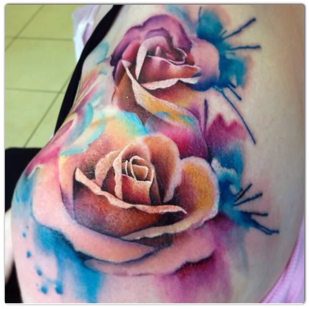 Pin By Pichy On Tattoo Watercolor Rose Tattoos Rose Tattoo Design Rose Tattoos