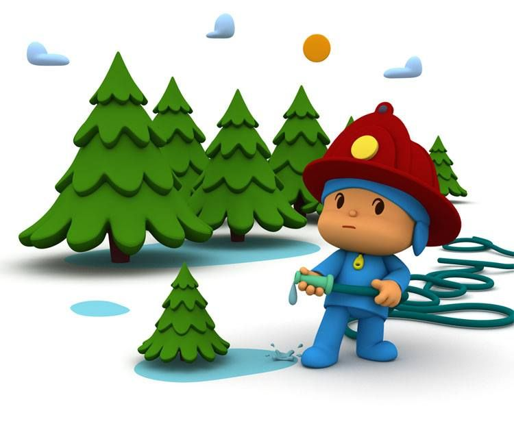 Pocoyo bombero ¡ Cuida el agua ! | Detective POCOYO | Pinterest ...